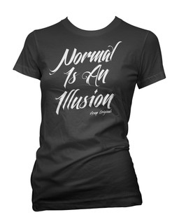 Normal Is An Illusion - Tee Shirt Aesop Originals Clothing (Black)