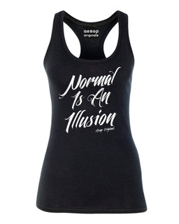 Normal Is An Illusion - Tank Top Aesop Originals Clothing (Black)