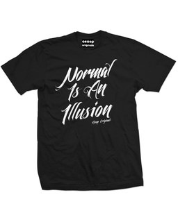 Normal Is An Illusion - Mens Tee Shirt Aesop Originals Clothing (Black)