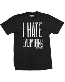 I Hate Everything - Mens Tee Shirt Aesop Originals Clothing (Black)