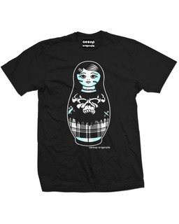 Zombie Nesting Doll Tattoo - Mens Tee Shirt Aesop Originals Clothing (Black)