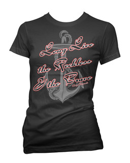 Long Live The Reckless & The Brave - Tee Shirt Aesop Originals Clothing (Black)