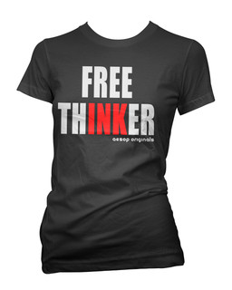 Free ThINKer - Tee Shirt Aesop Originals Clothing (Black)