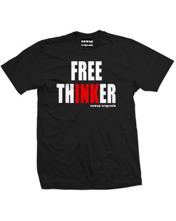 Free ThINKer - Mens Tee Shirt Aesop Originals Clothing (Black)