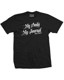 My Body My Journal - Mens Tee Shirt Aesop Originals Clothing (Black)
