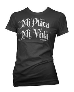 Mi Placa Mi Vida - Tee Shirt Aesop Originals Clothing (Black)