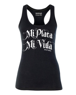 Mi Placa Mi Vida - Tank Top Aesop Originals Clothing (Black)