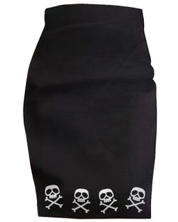 The Misfit Captain - High Waisted Pencil Skirt Aesop Originals Clothing (Black)