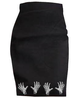 Zombie Squeeze - High Waisted Pencil Skirt Aesop Originals Clothing (Black)