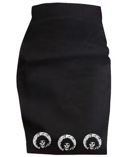 Crimson Scissorhands - High Waisted Pencil Skirt Aesop Originals Clothing (Black)