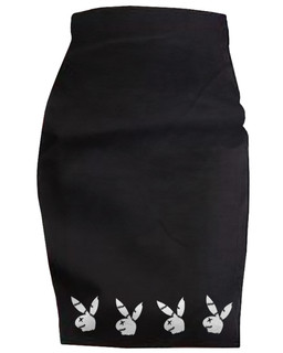 The Playghoul Bunny - High Waisted Pencil Skirt Aesop Originals Clothing (Black)
