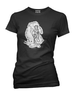Taurus - Retro Zodiac Pinup Tattoo - Tee Shirt Aesop Originals Clothing (Black)