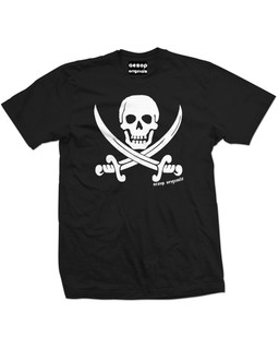 Jolly Roger Pirate Flag - Mens Tee Shirt Aesop Originals Clothing (Black)