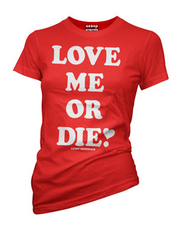 Love Me Or Die - Tee Shirt Aesop Originals Clothing (Red)