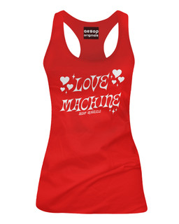 Love Machine - Tank Top Aesop Originals Clothing (Red)