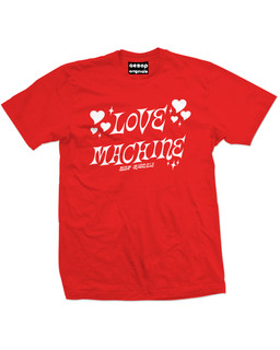 Love Machine - Mens Tee Shirt Aesop Originals Clothing (Red)