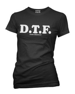 D.T.F. - Tee Shirt Aesop Originals Clothing (Black)
