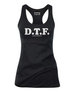 D.T.F. - Tank Top Aesop Originals Clothing (Black)