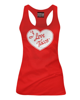 I Love Tacos - Tank Top Aesop Originals Clothing (Red)