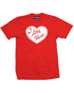 I Love Tacos - Mens Tee Shirt Aesop Originals Clothing (Red)