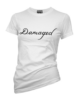 The Jokers Damaged Tattoo - Fan Art - Tee Shirt Aesop Originals Clothing (White)