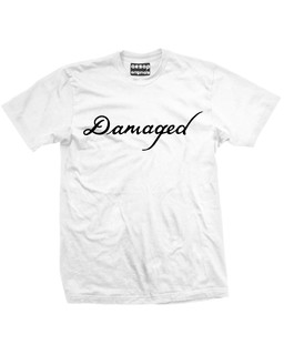 The Jokers Damaged Tattoo - Fan Art - Mens Tee Shirt Aesop Originals Clothing (White)