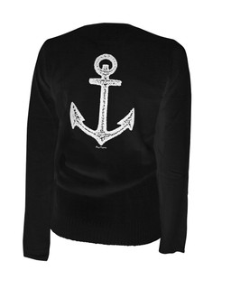 Pirate Of Destiny Anchor - Cardigan Aesop Originals Clothing (Black)
