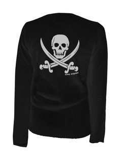 Jolly Roger Pirate Flag - Cardigan Aesop Originals Clothing (Black)