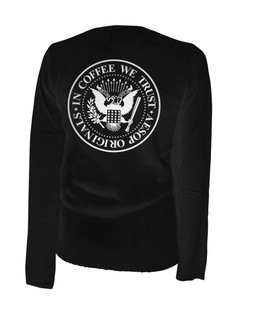In Coffee We Trust - Cardigan Aesop Originals Clothing (Black)