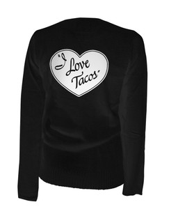 I Love Lucy And Tacos - Cardigan Aesop Originals Clothing (Black)