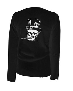 Old Skull Top Hat - Cardigan Aesop Originals Clothing (Black)