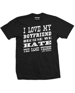I Love My Boyfriend Because We Hate The Same Things - Mens Tee Shirt Aesop Originals Clothing (Black)