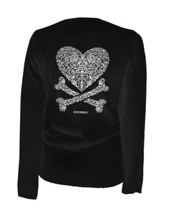 Cross My Heart - Cardigan Aesop Originals Clothing (Black)