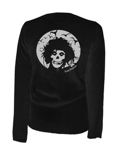 Crimson Scissorhands - Cardigan Aesop Originals Clothing (Black)
