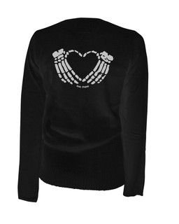 A Crimson Heart - Cardigan Aesop Originals Clothing (Black)
