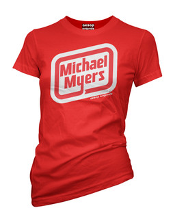 Michael Myers Oscar Mayer Logo - Tee Shirt Aesop Originals Clothing (Red)