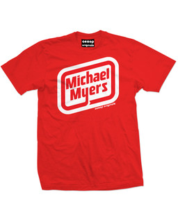Michael Myers Oscar Mayer Logo - Mens Tee Shirt Aesop Originals Clothing (Red)