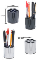 MAGNUM CYLINDER PEN AND PENCIL HOLDER - CHROME