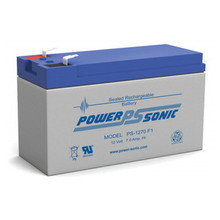 Power Sonic PS1270-F1 12V 7Amp. Hr. Sealed Lead Acid (SLA) Rechargeable Battery