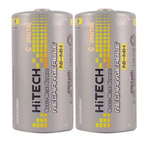 Hitech Ni-MH C Rechargeable Batteries, 5000mAh