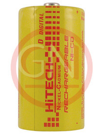 Hitech P-4000D Ni-Cd D Size Rechargeable Battery 4000mAh