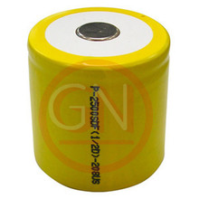 1/2 D Rechargeable Battery Ni-Cd 2500mAh, Flat Top
