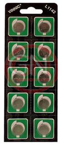 10 Vinnic AG12, L1142, LR43, 186, V12GA, RW84, D186 Alkaline Batteries