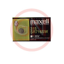 1 Maxell SR716SW, 315 Silver Oxide Watch Battery