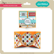Diagonal Fold Pop Up Card