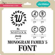 Monogram Family 5 Font