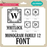 Monogram Family 12 Font