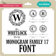 Monogram Family 17 Font
