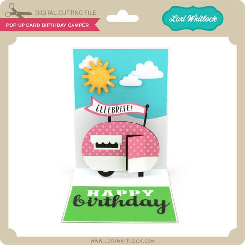 Pop Up Card Birthday Camper 199 Image 1