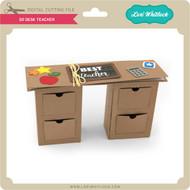 3D Desk Teacher